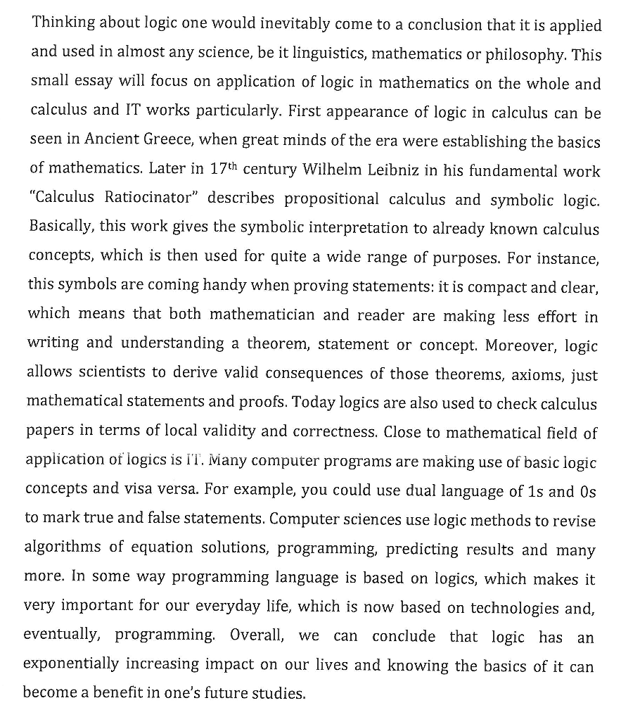 Essay Examples High School Logic Health And Social Care Essays also Spm English Essay Wheres Waldo The Logic Game  The Dot On The Ceiling Essay Thesis Examples